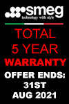 5-year Warranty on Smeg Freestanding Cookers