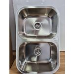 Euro Double Bowl Sink Stainless Steel - EAS740DBU