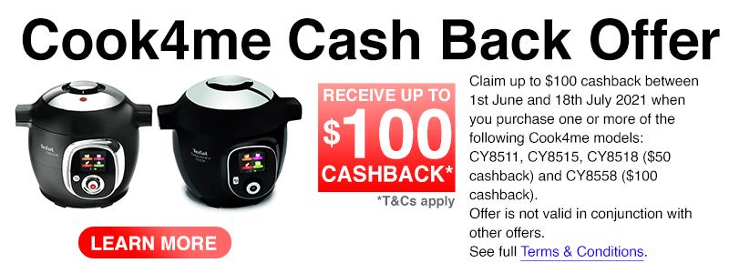 Tefal Cook4me Cash Back Offer